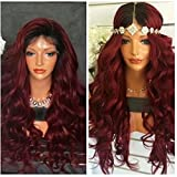 Ten Chopstics 360 Lace Frontal Wig 180% Density Brazilian Virgin Human Hair with Baby Hair Body Wave Full Lace High Density 1B 99j Ombre Color Wig for Black Women