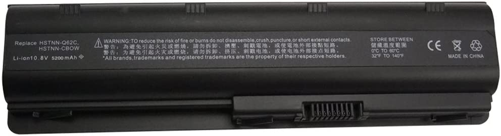 Bay Valley Parts New Laptop Battery for HP MU06 593553-001 MU09 593554-001 G62 G42 G56 G6T G72 G7 / Compaq Presaio CQ42 CQ56 CQ62 / Pavilion DM4 [Li-ion 6-Cell]