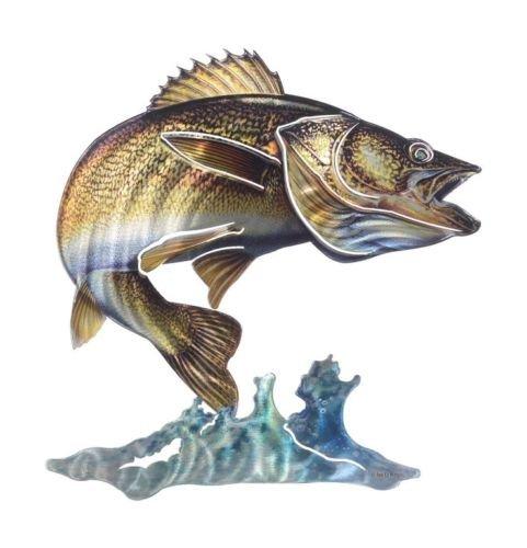 高級品市場 Walleye US Wave 3dメタル壁アート魚釣りロッジDecor B0755R4HRR US Made Walleye B0755R4HRR, BONZ:b145c380 --- ballyshannonshow.com