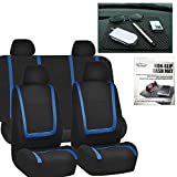 2004 4runner dash cover black - FH GROUP FH-FB032114 Unique Flat Cloth Car Seat Covers, Blue / Black with FH GROUP FH1002 Non-slip Black Dash Grip Pad Mat-Color- Fit Most Car, Truck, Suv, or Van