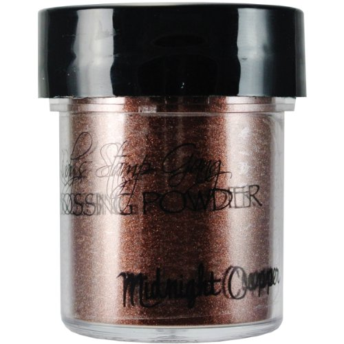 Lindy's Stamp Gang 2-Tone Embossing Powder, 0.5-Ounce Jar, Midnight Copper Obsidian