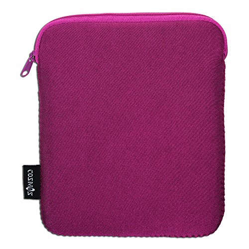 COSMOS Neoprene Protection Carrying Sleeve Case Bag for Kindle Oasis E-reader 2016 (Deep Pink Color)