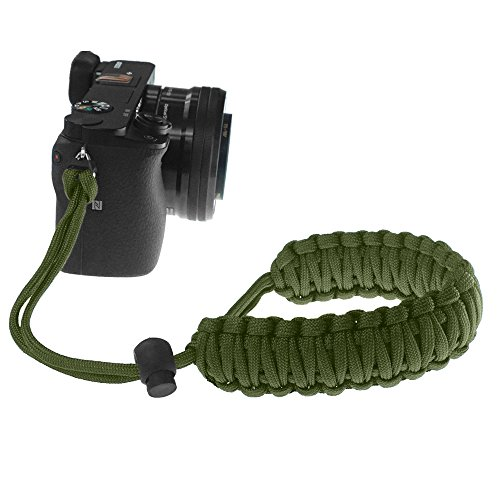 FoRapid Braided 550 Paracord Adjustable Camera Wrist Strap / Bracelet for Mirrorless Compact System DSLR Cameras, Binoculars (Olive Drab)