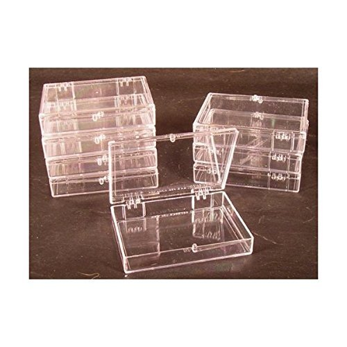(Lot of 8 Crystal Clear Hinged Plastic Trading Card Storage Boxes (35-ct) - Made in The U.S.A.)