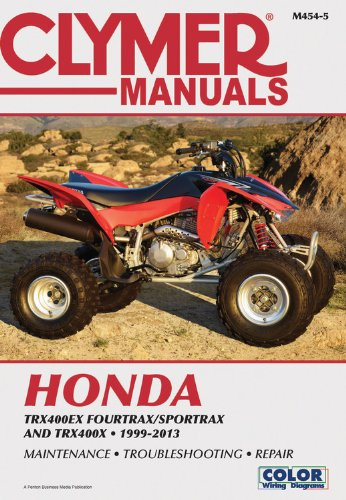 Read Online Honda TRX400EX Fourtrax/Sportrax & TRX400X 99-13 (Clymer Manuals: Motorcycle Repair) pdf epub