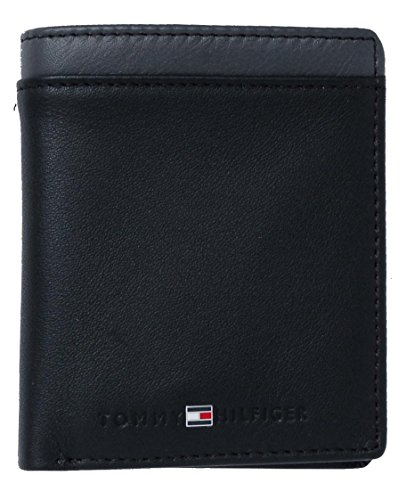 black bifold grey wallet HILFIGER TOMMY small HILFIGER TOMMY no coins fBwq8Y0z