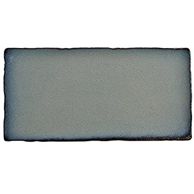 "SomerTile WCVASG Antigue Special Griggio Ceramic Wall Tile, 3"" x 6"", Grey/Blue"