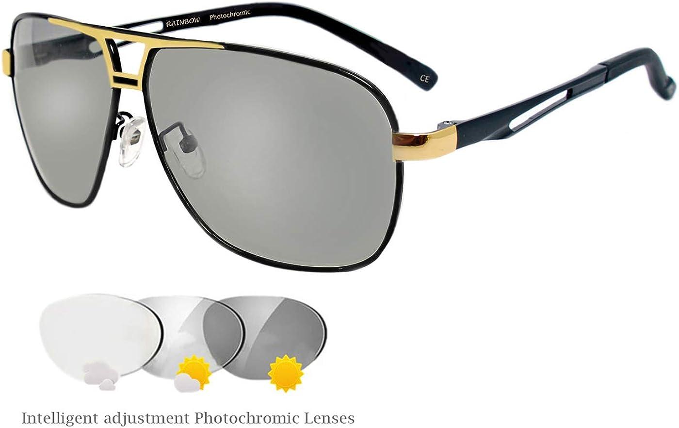 Men/'s Photochromique Lunettes De Soleil Polarisées Transition Lens Driving Lunettes Eyewear