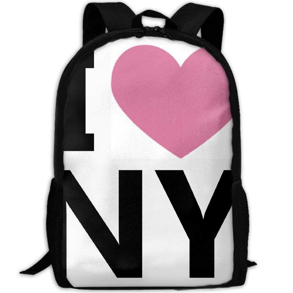 ZQBAAD I Love New York Luxury Print Men and Women's Travel Knapsack