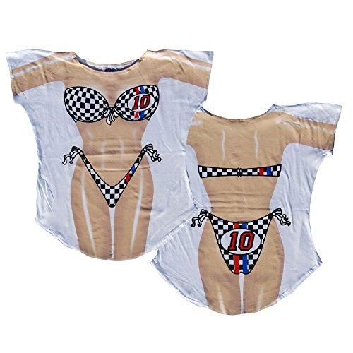 L.A. Imprints Race Car Girl Bikini Body Cover-Up T-Shirt (M/L)