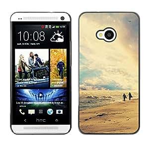 Paccase / SLIM PC / Aliminium Casa Carcasa Funda Case Cover - Nature Retro Beach - HTC One M7