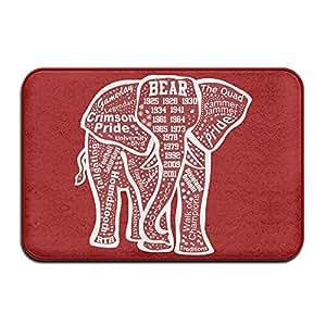 jfd Alabama rojo elefante antideslizante Felpudo 60x 40cm