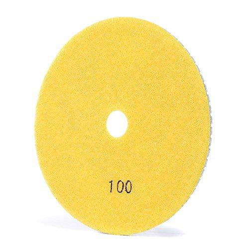 TuToy Almohadilla de pulido de diamante de 6 pulgadas Disco de pulido en seco h/úmedo de grano 50-3000 Herramienta de pulido de diamante 200