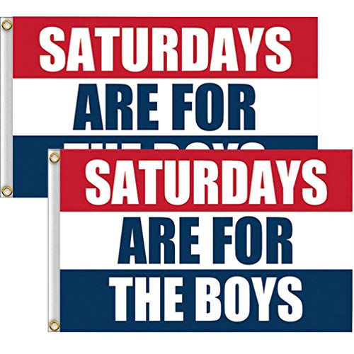 SUNYAO Saturdays Boys Flag, 2 Pack 3 x 5 Foot with 2 Brass G