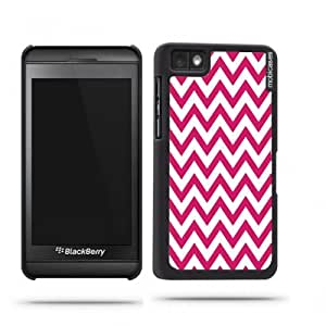 Chevron Pattern- Fushcia Blackberry Z10 Case - For Blackberry Z10