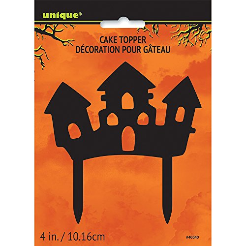 Plastic Haunted House Halloween Cake Topper ()