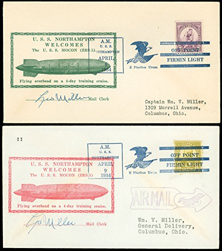 4 9 34 Lot 2 Uss Macon   Uss Northampton  Mocon   Unlisted Red  Normal In Green