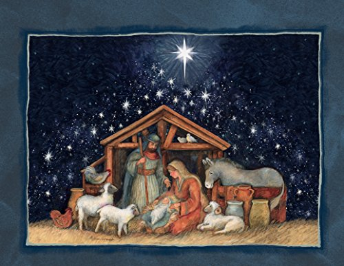 Lang Nativity Assorted Two Set Christmas Cardby Susan Winget, 5.375 x 6.875, 2 Unique Designs per Box, 18 Cards and 19 Envelopes (Susan Winget Christmas Cards)