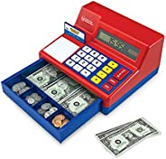 Learning Resources Pretend & Play Calculator Cash Register, Classic Counting Toy, Kids Cash Register,73 Pi