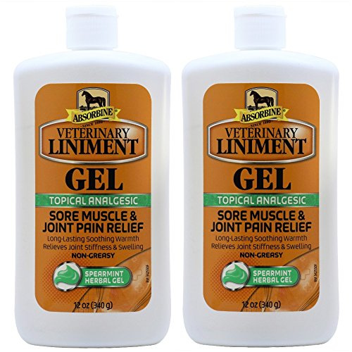 Absorbine Gel (Absorbine Veterinary Liniment Gel (Two 12-oz Squeeze Bottle))