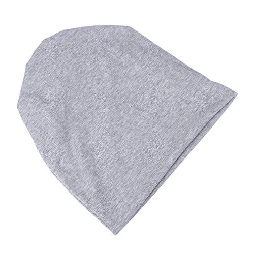 tramo la sólida claro bufanda moreno ocasional cáncer sombrero gris del de Beanie Cap COMVIP Chemo Hombres w8pvwqt
