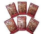 Betty Crocker Cookie Mix Variety Bundle - (1) Peanut Butter, (1) Rainbow Chocolate Candy, (1) Oatmeal Chocolate Chip, (1) Chocolate Chip, (1) Oatmeal and (1) Sugar Cookie - (6 Items)
