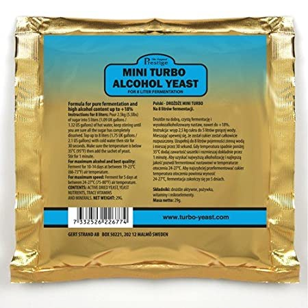 Prestige Turbo Yeast Mini 18/% for 8 liters