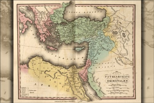 Poster Map Of Ancient Greece Turkey Israel Egypt 1826 Antique Reprint