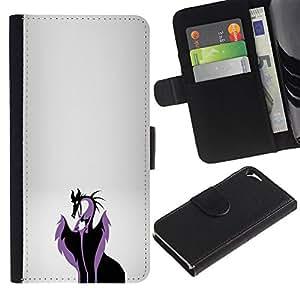 // PHONE CASE GIFT // Moda Estuche Funda de Cuero Billetera Tarjeta de crédito dinero bolsa Cubierta de proteccion Caso Apple Iphone 5 / 5S / Evil Dragon Queen /