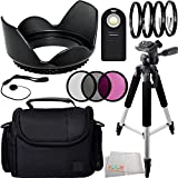 13PC Essentials Package for Nikon D3000 D3200 D3300 D5000 D5100 D5200 D5300 D5500 D7000 D7100 D7200 D90 D80 with 18-55mm, 55-200mm, 24mm f/2.8D, 28mm f/2.8D, 35mm f/1.8G, 35mm f/2.0D, 40mm f/2.8G, 50mm f/1.4D, 50mm f/1.8D & 85mm f/3.5G Lenses