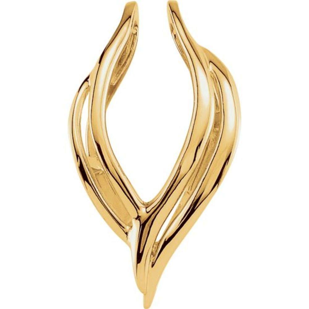 Bonyak Jewelry 10k Yellow Gold Pendant Enhancer