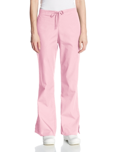 Drawstring Pink Blush - Cherokee Women's Flare Leg Drawstring Scrub Pant, Pink Blush, Medium