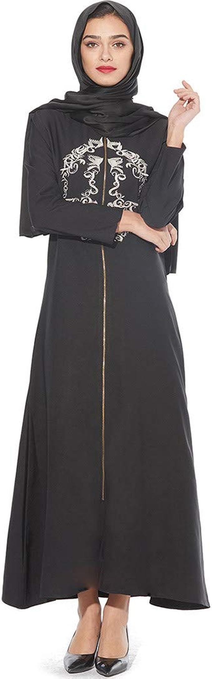 Vovotrade Bordado Nacional musulmán Vestido de Gran tamaño ...
