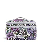 Vera Bradley Iconic Brush Up Cosmetic Case, Signature Cotton, Lavender Meadow
