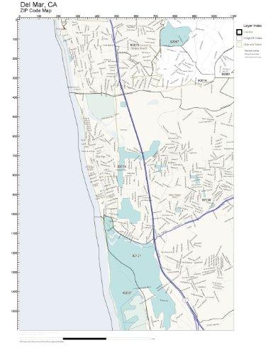 ZIP Code Wall Map of Del Mar, CA ZIP Code Map - Delmar Ca