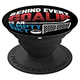 Ice Hockey Players Gift Inspiring Them To See An Empty Net - PopSockets Grip and Stand for Phones and Tablets