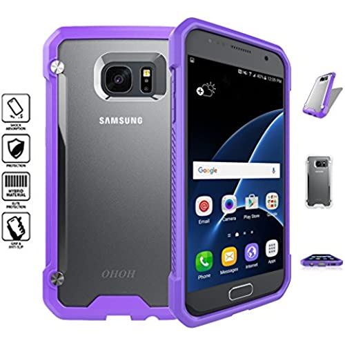 OHOH Hero Series Shockproof Ultimate Protection Case for Galaxy S7 Retail Packaging(Purple) Sales