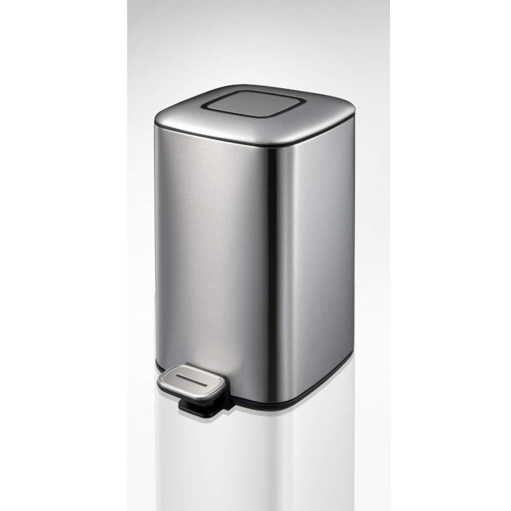 JJD ペダルの不用な大箱ステンレス鋼のゴミ箱は寝室のオフィスの台所のためのふたの長方形のゴミ箱ができます (Color : G) B07T65MDTB G