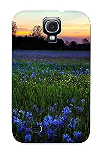 New Blue Wildflowers Tpu Case Cover, Anti-scratch Chapiterq Phone Case For Galaxy S4