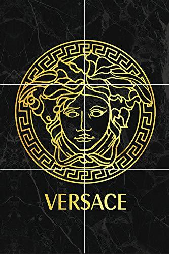 (Versace Medusa Head Gold Yellow Black Gray White Marble Kitchen Bathroom Ceramic Tile Mural backsplash Home Decor 12