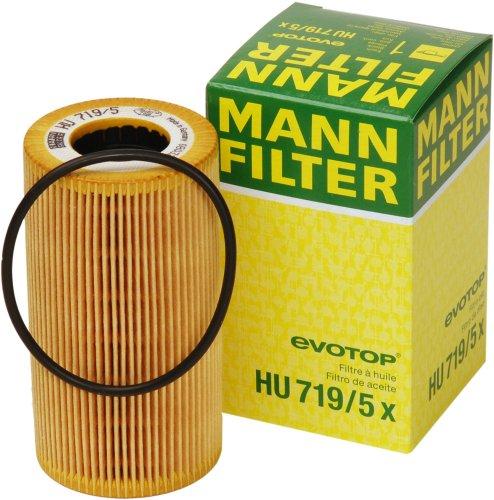 5x Filter (Mann-Filter HU 719/5 X Metal-Free Oil Filter)