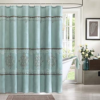 Madison Park MP70 1067 Brussel Shower Curtain 72x72 Seafoam Blue72x72