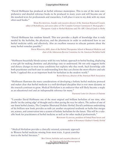 Medical Herbalism: The Science Principles and Practices Of Herbal Medicine - medicalbooks.filipinodoctors.org
