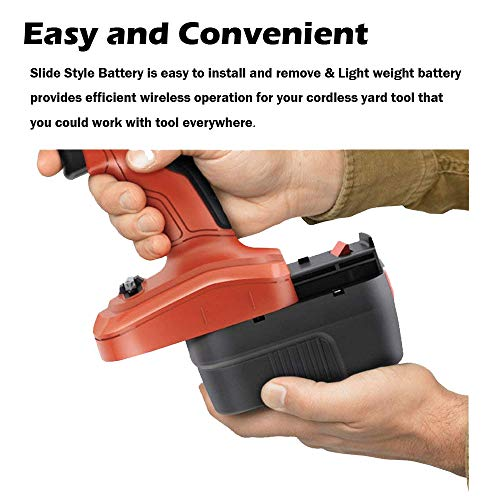 Replace Black and Decker 12V Battery [2 Pack] for BDID1202 CDC120ASB HPD12K-2 HPB12 FS120BX FSB12 FS120B A1712 A12 BD12PSK SS12 XD1200K Drill, Reexbon 12 Volt 2.0Ah / 2000mAh Relacement Battery Pack