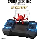FQ777-126C FQ777 126C MINI Drone with 2MP HD Camera RC Quadcopter MODE1 & MODE2 Switch Headless 4CH 6Axis Gyro 3D-flip One-key Return Spider RC Hexacopter - Red