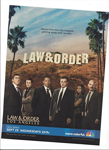 --PRINT AD--With Cast of Law & Order Los Angeles 2010 TV Promo --PRINT AD--