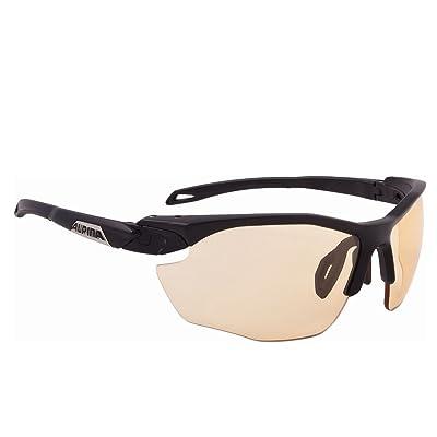 Alpina Twist Five HR VL + Lunettes de soleil Lunettes de vélo lunettes Eyewear (Noir mat)