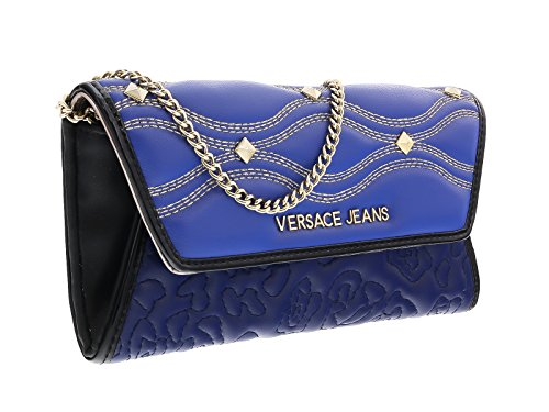Versace EE3VOBPK3 EMAF Blue/Black Wallet On A Chain