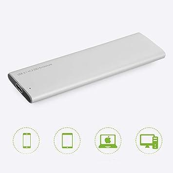 tonysa Caja portátil de Disco Duro de Estado sólido M.2, USB3.1 ...