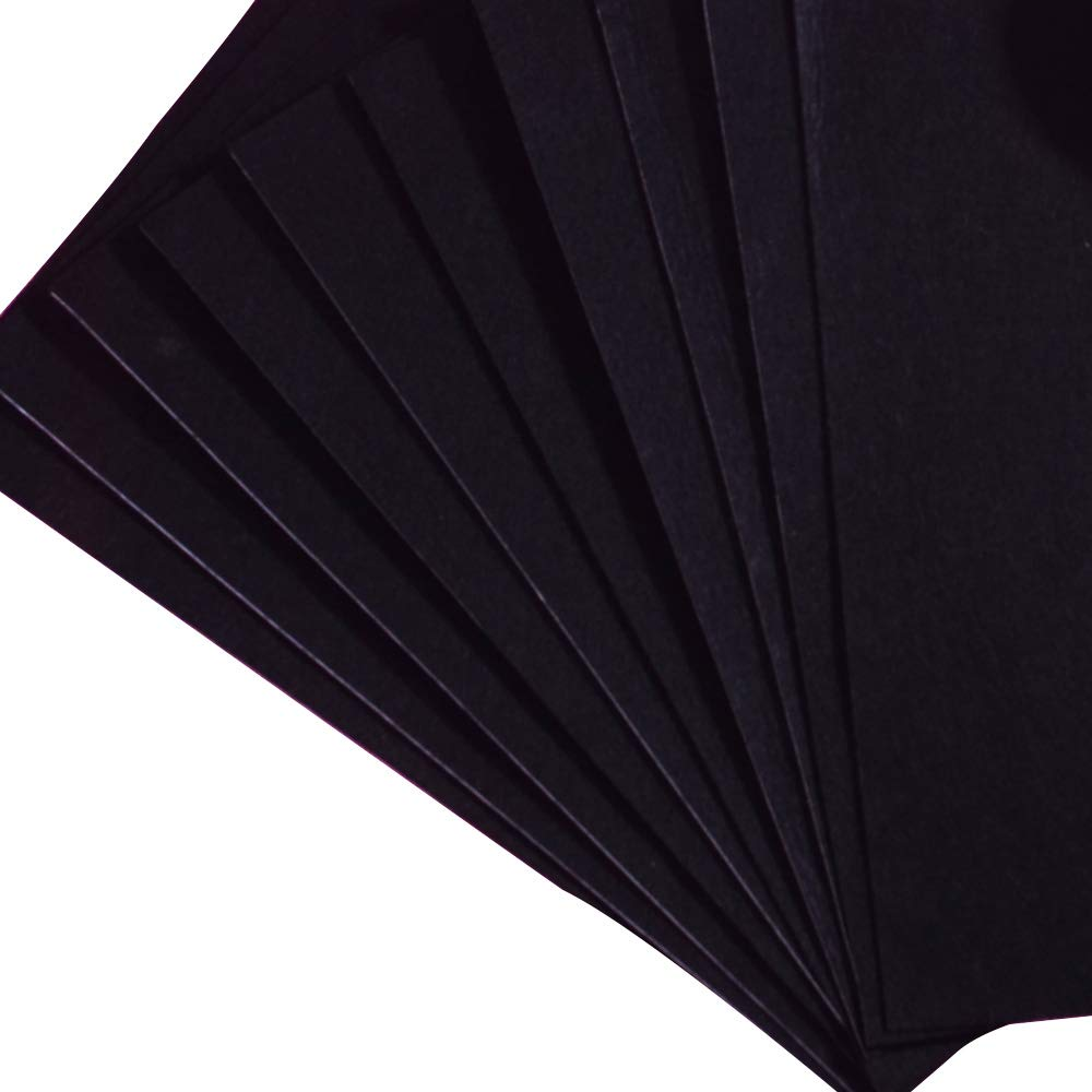 Onepine 10 pcs 8.3x11.8 inch Durable and Water Resistant for DIY Art Craft Making,Homemade Costumes 10PCS // Black Black Adhesive Back Felt Fabric Sticky Back Sheets Self-Adhesive 21x30 cm